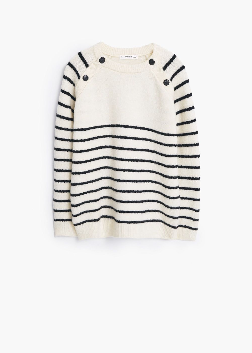 366018924 Striped sweater Jersey Con Botones