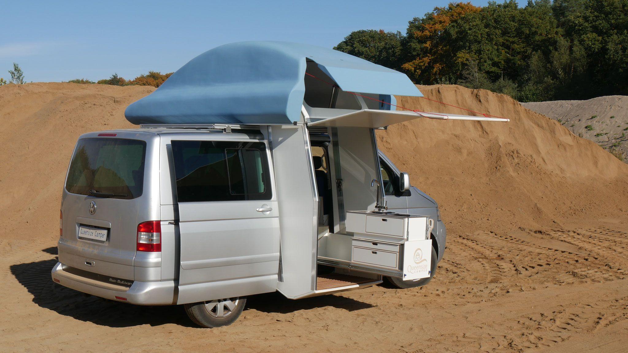 Queensize Camper Multivan T5 T6 Galeria Concept With Closed Shower Bus Umbauen Campingbus Ausbau Outdoor Kuche
