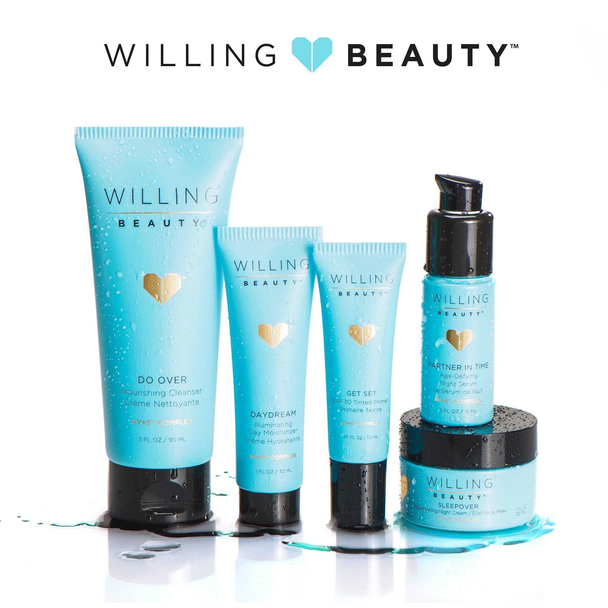 The willing beauty daily regimen features five unique products