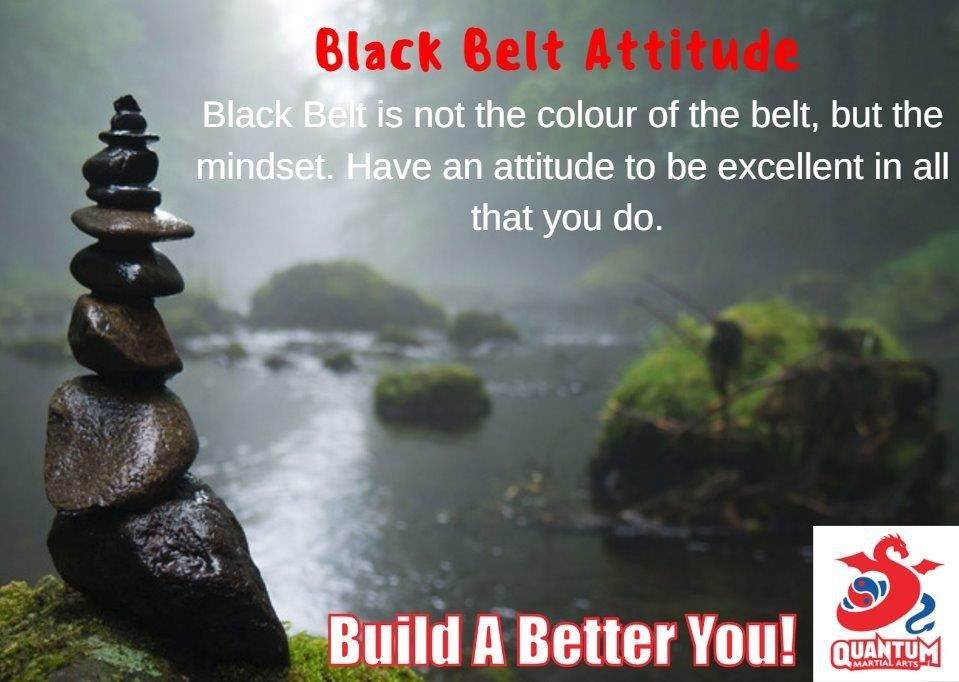 #BlackBelt is not about the colour of the belt, but the #mindset. Have an #attitude to be excellent...