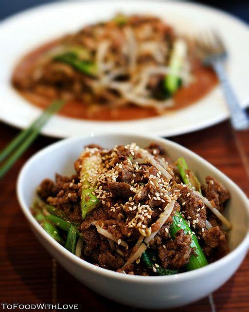 Korean- Bulgogi beef. my new fav!