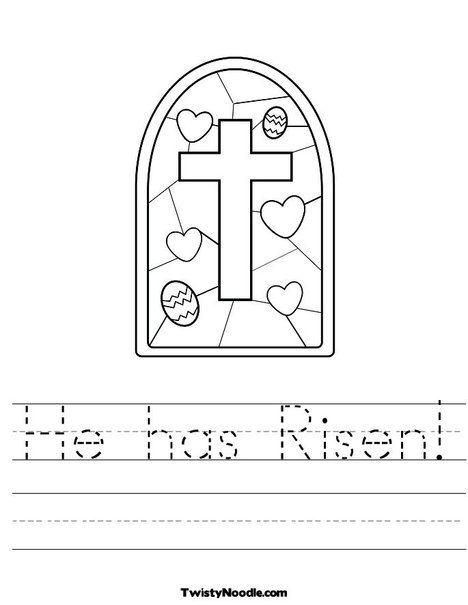 He Has Risen Worksheet Easter Kindergarten Easter Preschool Easter Worksheets Religious easter worksheets for