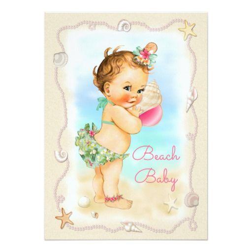 Redhead Beach Baby Conch Shell Baby Shower