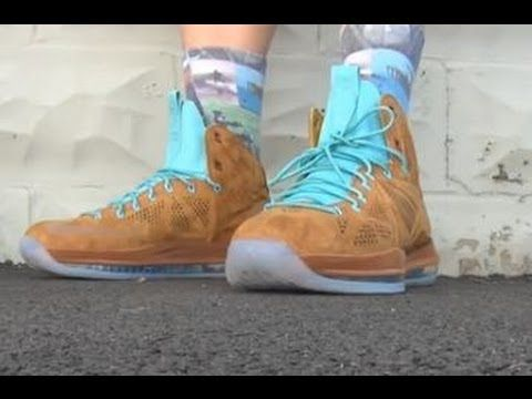 bcb857ea4fde 2013 Nike Lebron 10 EXT Hazelnut Brown Suede Sea Royal X QS Sneaker Review  + On Feet W   DjDelz