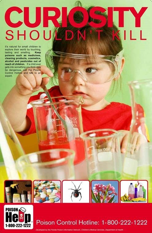 photo of child who appears to be playing with dangerous substances