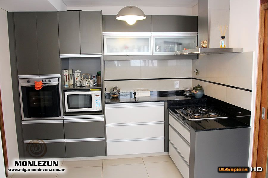 Mueble de Cocina a medida, en melamina, Cantos ABS, Sistema slow en ...