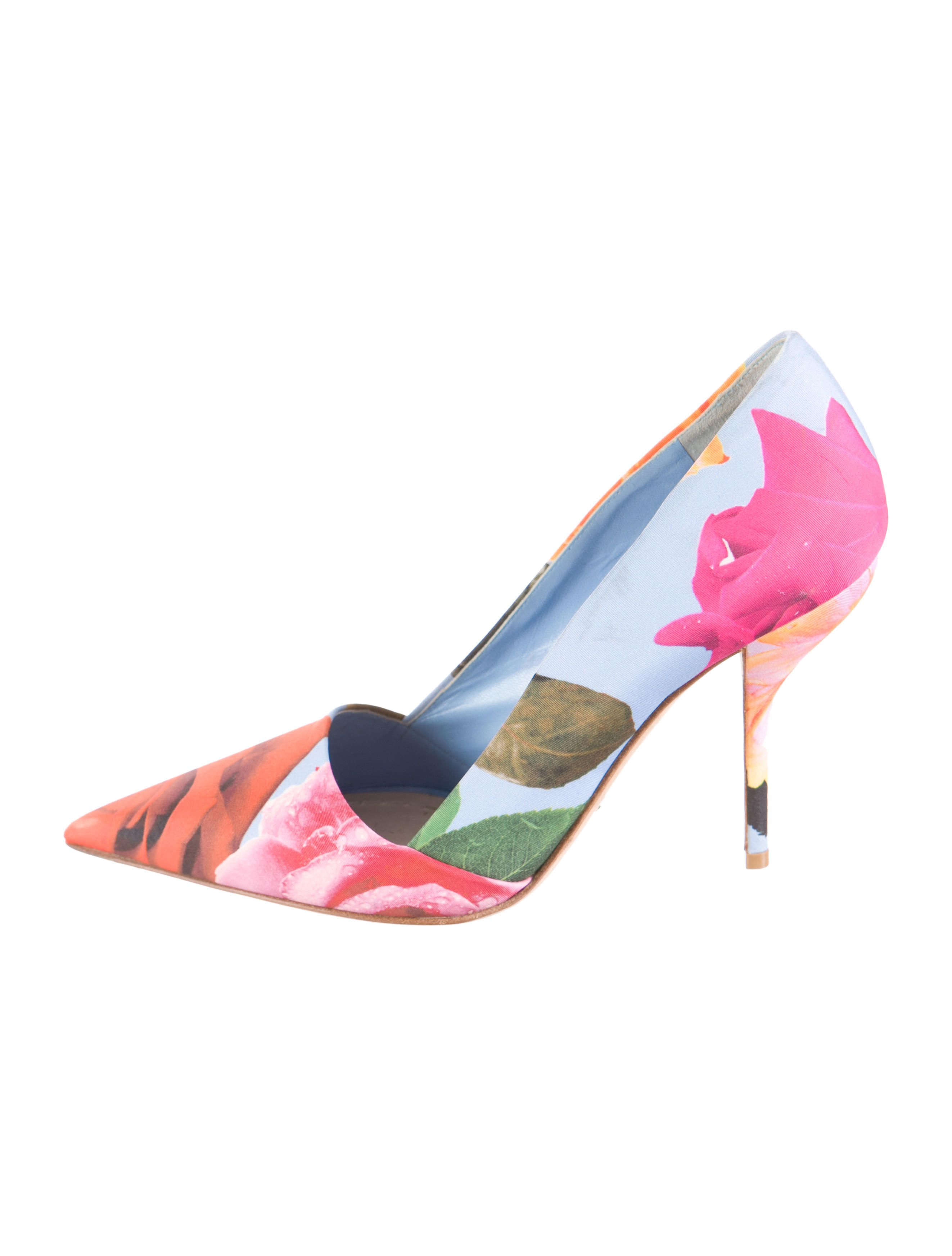 newest sale online Christian Dior Floral Pointed-Toe Pumps free shipping huge surprise sale supply Va3qsBfeY