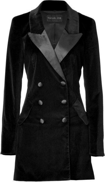 e92850d2 Women's Black Velvet Cameron Tuxedo Coat | blue or black blazer ...