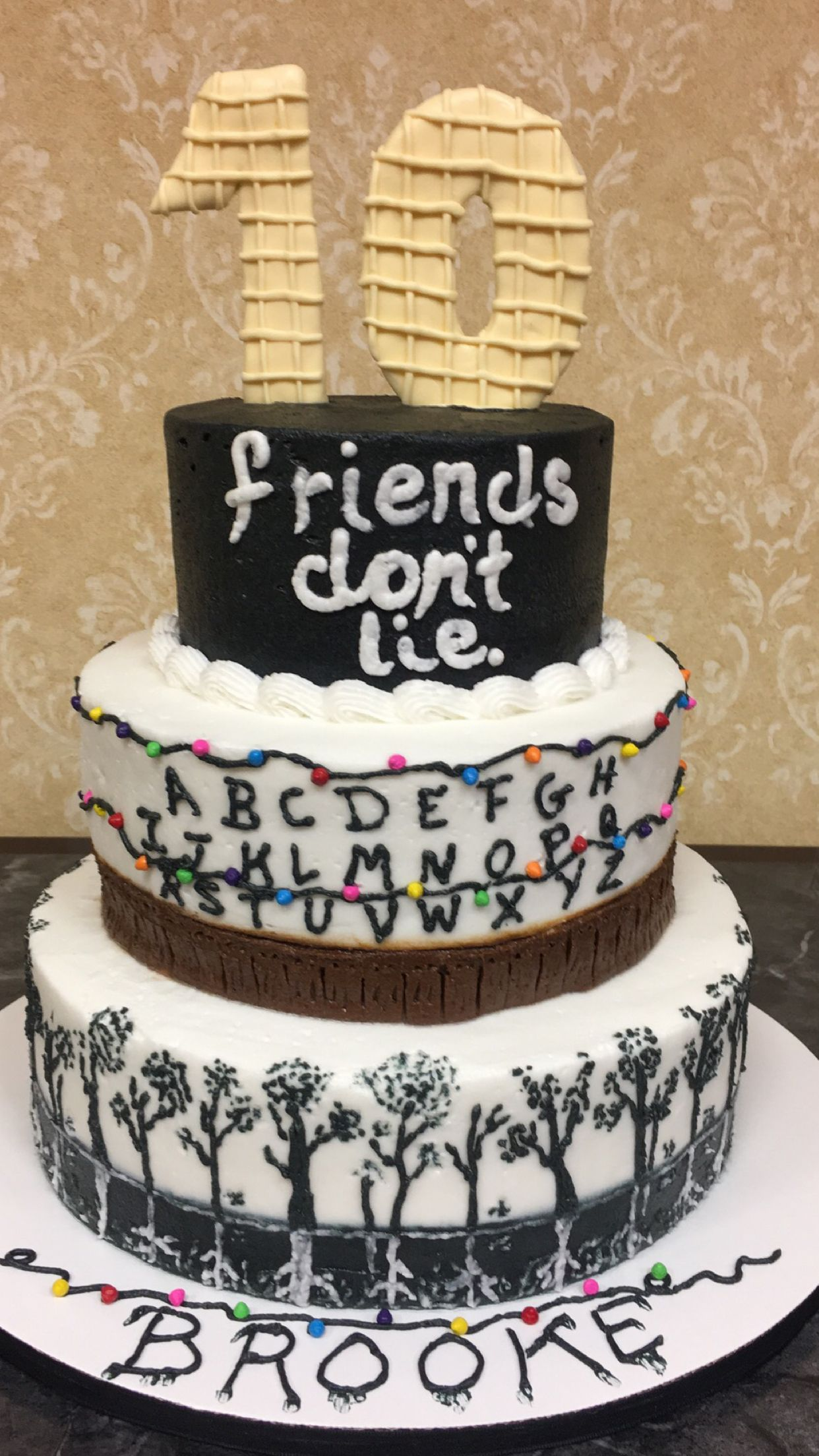 Brooklynn S Stranger Things Birthday Cake With Images Cake