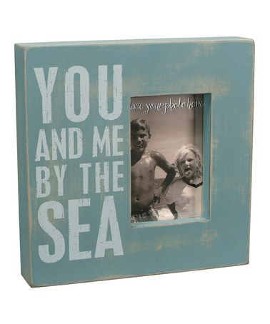 Take A Look At This You And Me By The Sea Box Picture Frame By