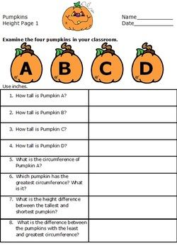 pumpkin math worksheets measuring pumpkins 4th grade thanksgiving centers measurement. Black Bedroom Furniture Sets. Home Design Ideas