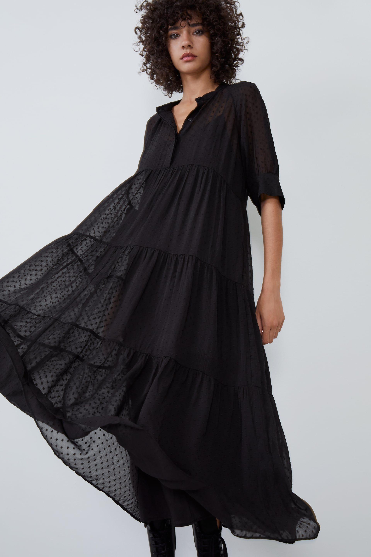Vestido De Plumeti Ver Tudo Vestidos Mulher Zara Portugal Swiss Dot Dress Satin Midi Dress Dresses [ 2880 x 1920 Pixel ]