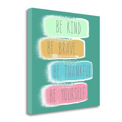 Tangletown Fine Art 'Be Yourself' by Linda Woods Textual Art on Wrapped Canvas
