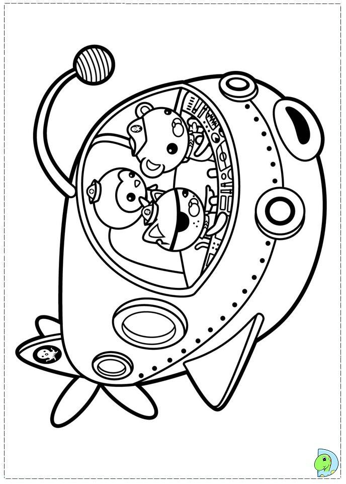 Coloring Pages The Octonauts Drawing | Octonauts and Harry Potter ...