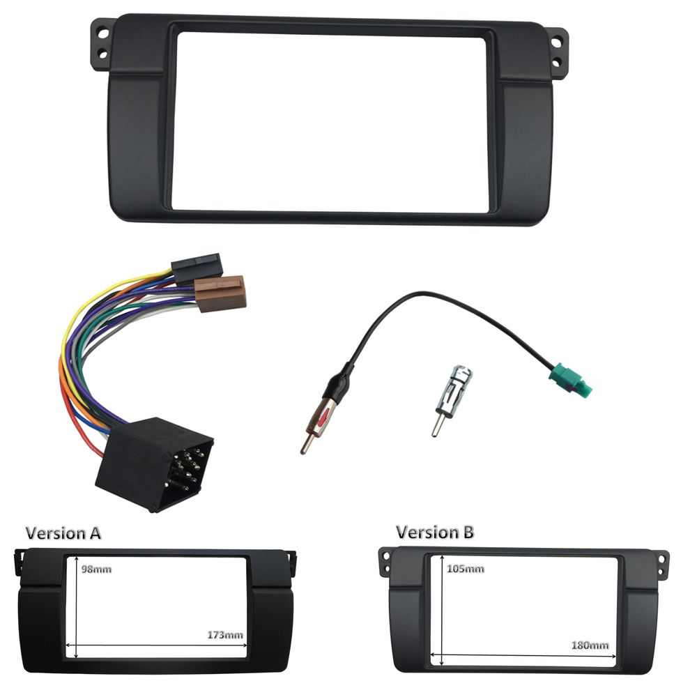 Double Din Fascia For Bmw 3 Series E46 1998 2005 Radio Dvd Toyota Single Car Stereo Install Dash Mount Kit With Wiring Panel Trim Frame Iso