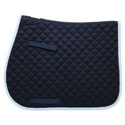Union Hill Ap Saddle Pad Navy W Light Blue Trim Saddle Pads Saddle Clothes Design