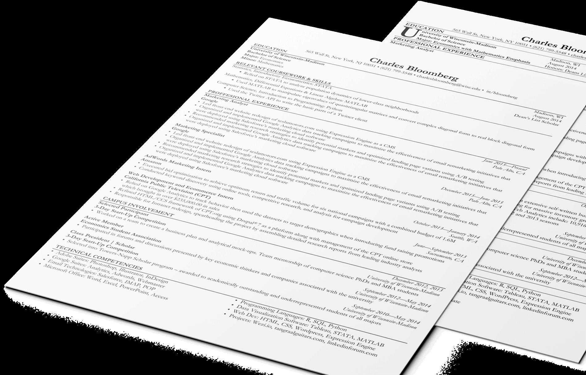 Rezi Optimized Resume Templates