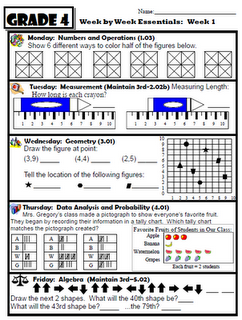 Wow...36 Weeks of Math practice! Links to different grade levels as well! Free: PDF