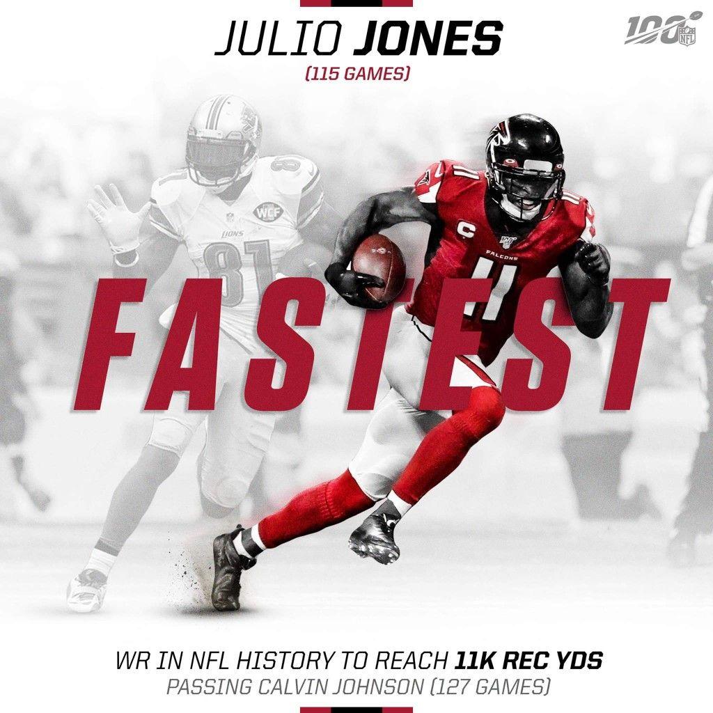 Julio Jones Wk 4 2019 Nfl History Nfl Nfl News