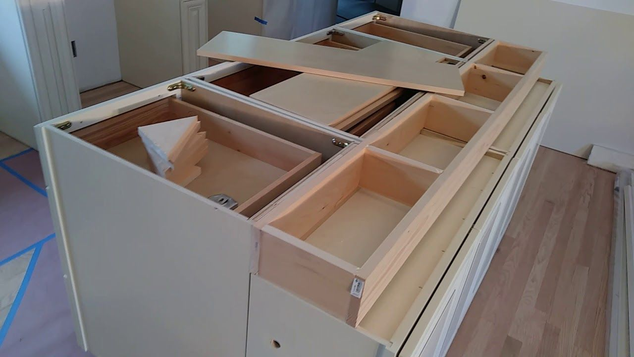 How To Build And Make A Double Sided Kitchen Island From Wall Cabinets Diy Kitchen Island B Build Kitchen Island Diy Kitchen Island Building Kitchen Cabinets