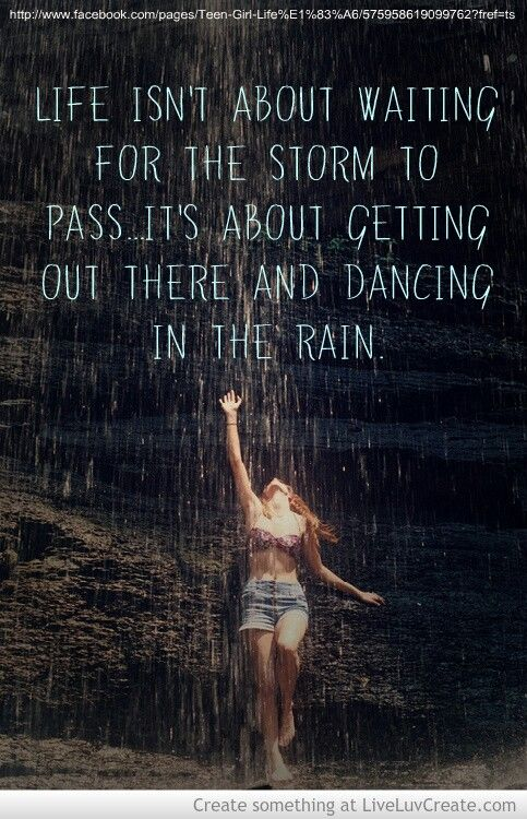 Life Isnt About Waiting For The Storm To Pass Its About Learning To Dance In The Rain Tattoo