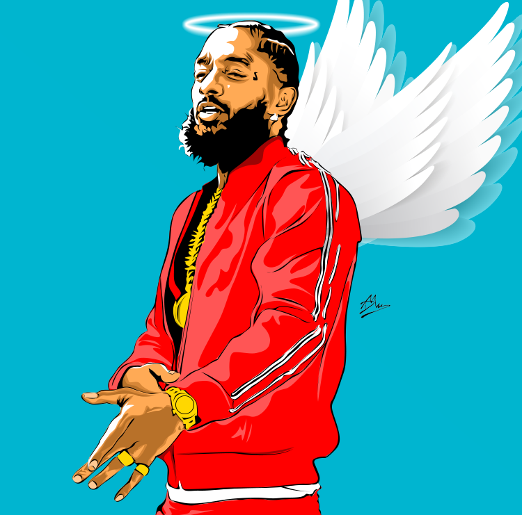 Nipsey Hussle vexel artwork. Rapper art
