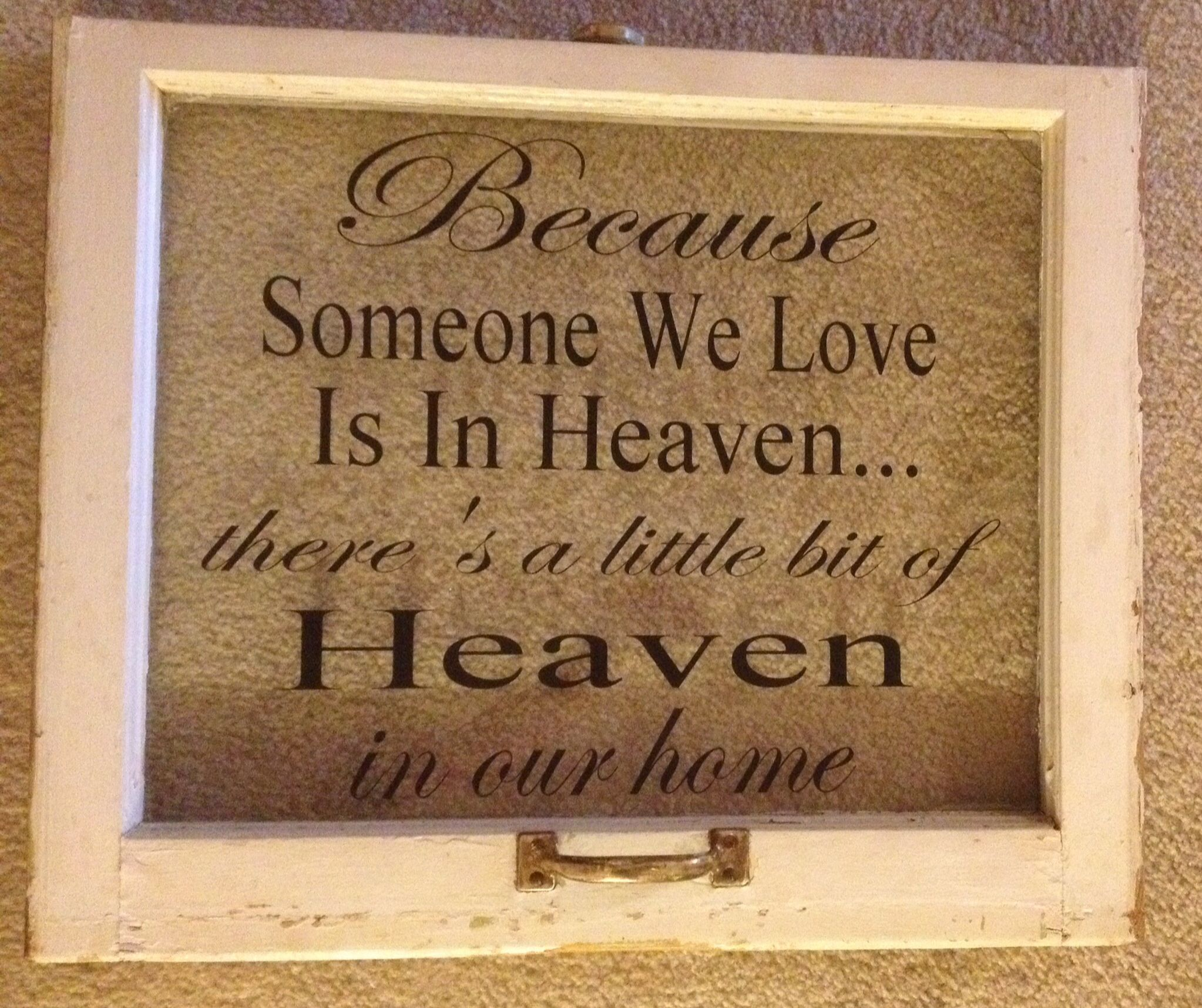 Old window I did with my vinyl machine. Love this verse | Old window ...