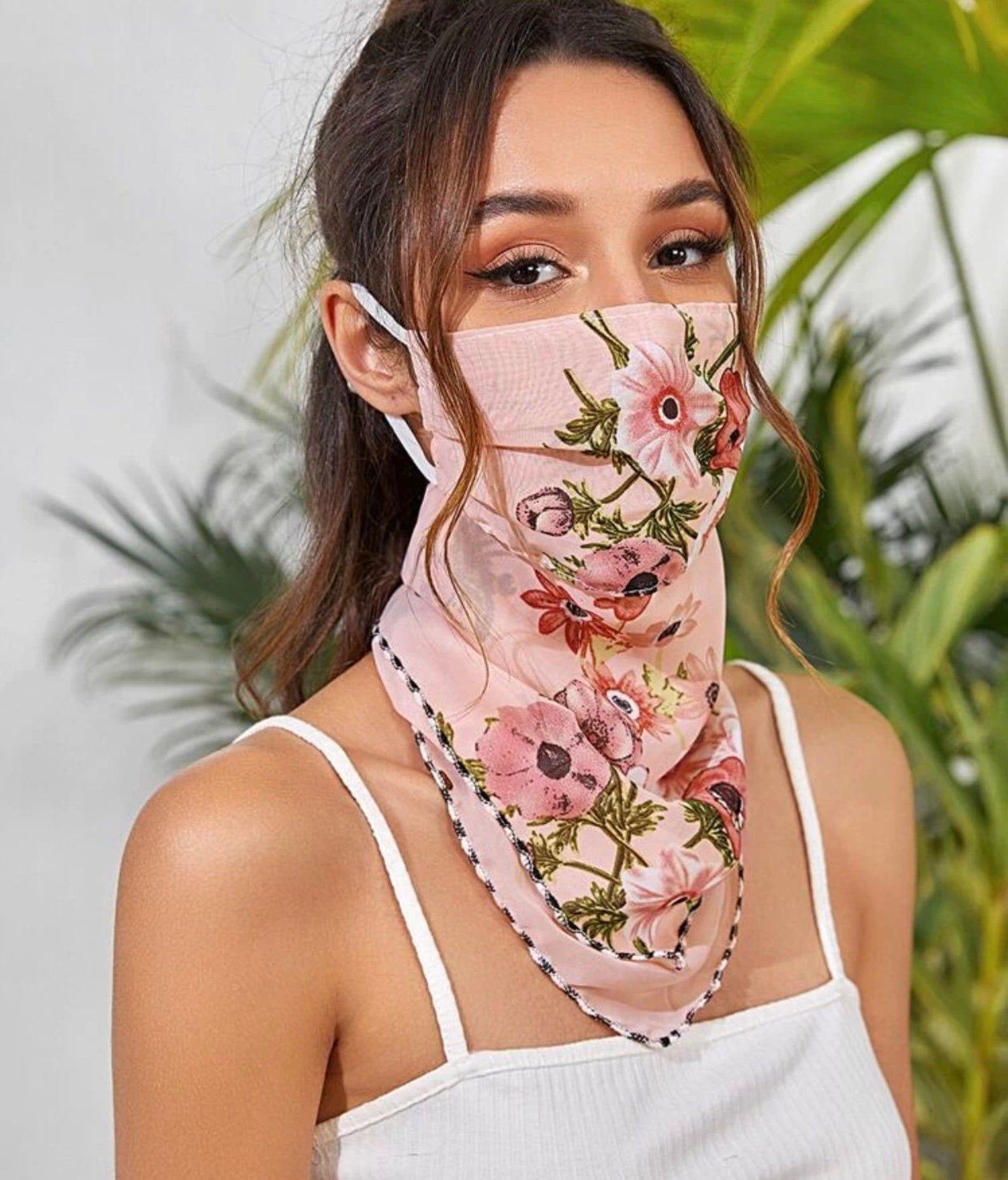 Face Mask Scarf Etsy in 2020 Easy face masks, Diy face