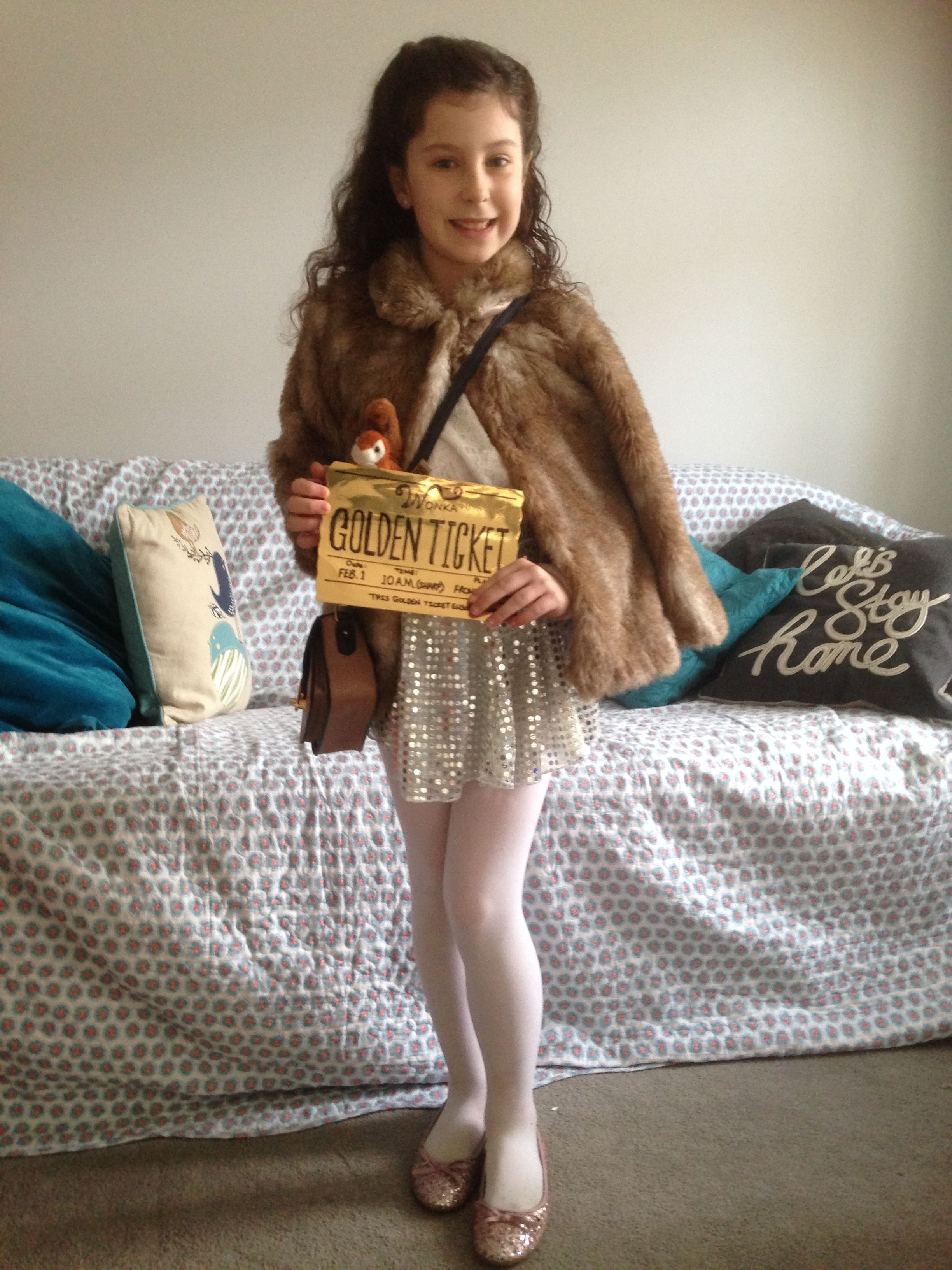 Roald Dahl Veruca Salt Costume Charlie Chocolate Factory Book Day Fancy Dress