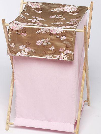 Abby Rose Hamper - Sweet JoJo Designs - Pink Asian Inspired Laundry Hamper - http://www.childrensbeddingboutique.com/abby-rose-hamper.aspx