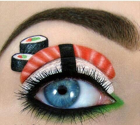 Sushi - Most delicious looking eye makeup ever.