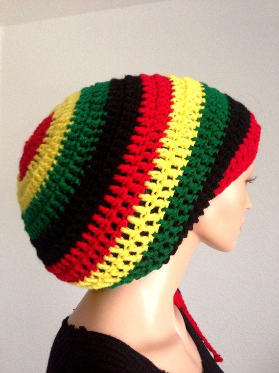 Crochet Mega Rasta Tam. Unisex Dreadlocks Tam. Bob Marley Hat ...