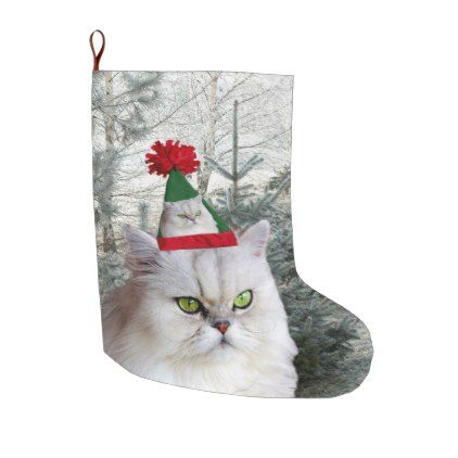 Christmas Cat Christmas Stocking Large Cat christmas stocking