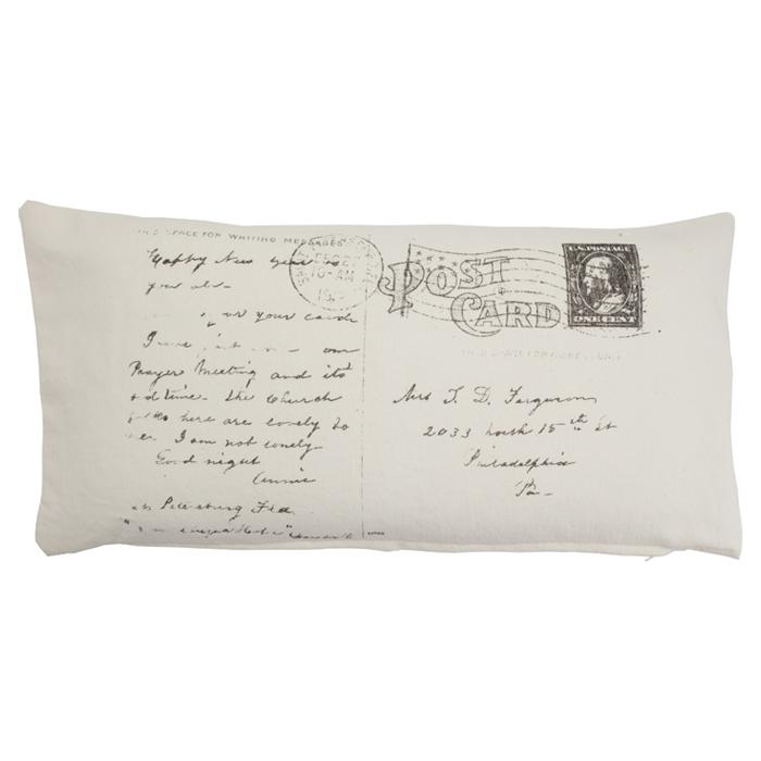 Postcard Pillow - too cute!