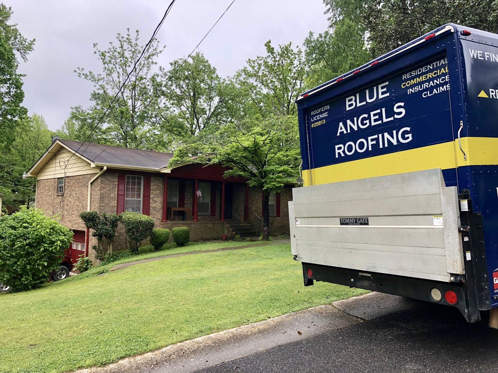 The Blue Angels Roofing Team Inspected This House To Determine
