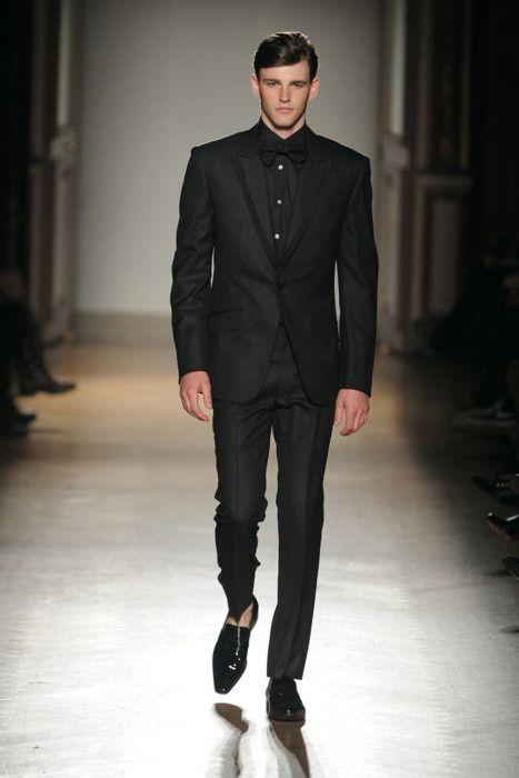 All black tuxedo by Smalto | Boy Threads | Pinterest | Black tuxedos ...