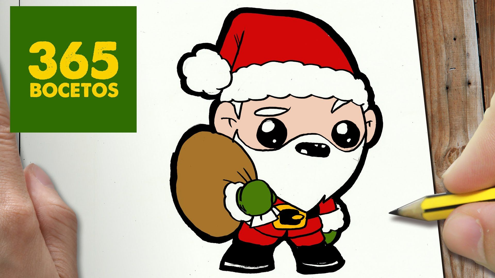 Le Père Noël Dessin Kawaii Dessins Mignons Et Kawaii