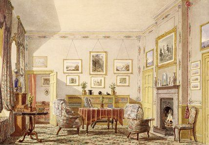 The Drawing Room The Close Winchester Beatrice Olive Corfe 1847 Victorian House Interiors Victorian Interior Victorian Furniture