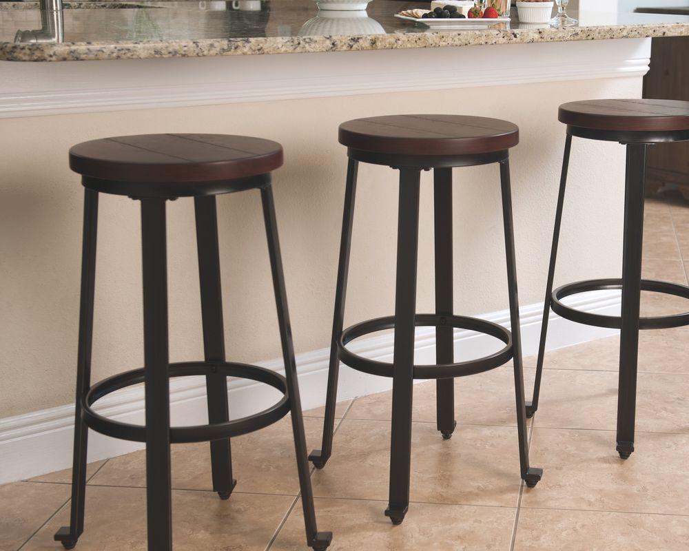 Pub Height Bar Stools Set Of 2 Furniture Wood Metal Signature Design Tall Chair Woodmetalcollection Rustic Bar Stools Bar Stools Counter Height Bar Stools