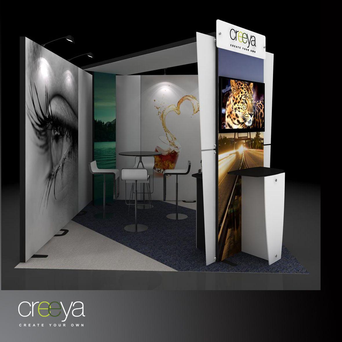 Custom Modular Exhibition Stands : Creeya modular display exhibit is termed as custom