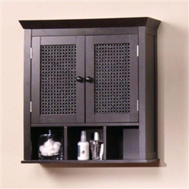 Dark Espresso 2 Door Bathroom Wall Cabinet With Storage Shelves Bathroom Wall Storage Cabinets Bathroom Wall Storage Bathroom Wall Cabinets