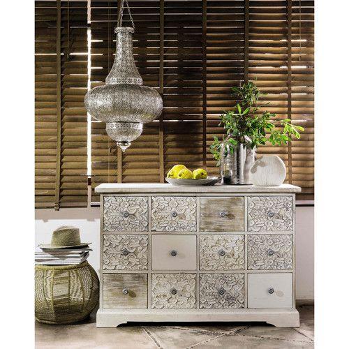 suspension non lectrifi e en m tal cisel d 48 cm 6. Black Bedroom Furniture Sets. Home Design Ideas