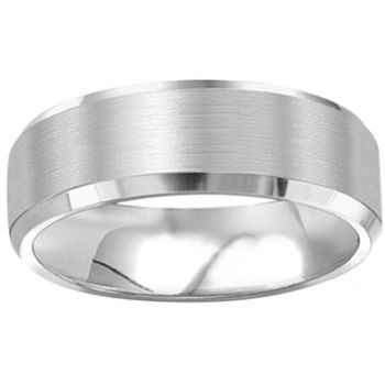 Costco White Gold Mens Wedding Band