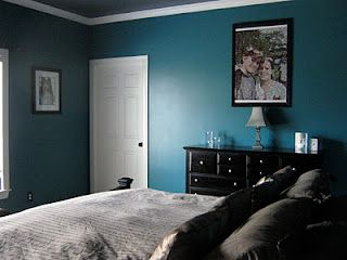 love that wall color with the white trim