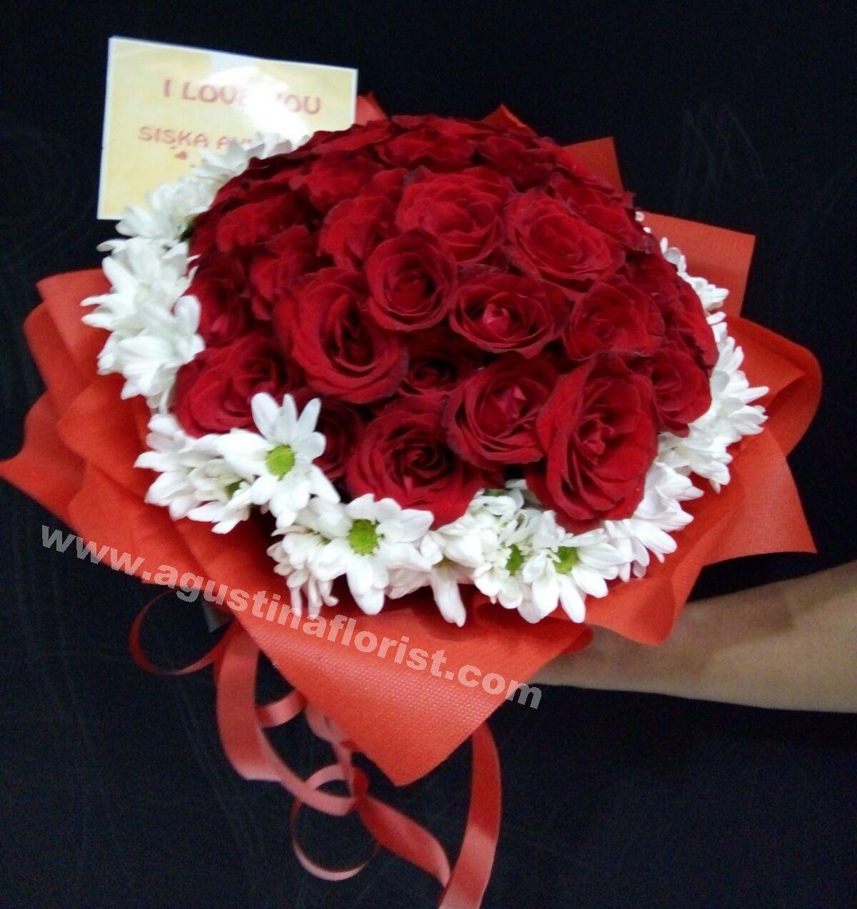 Buket Mawar Merah Mawar Cantik Bunga Gambar Bunga