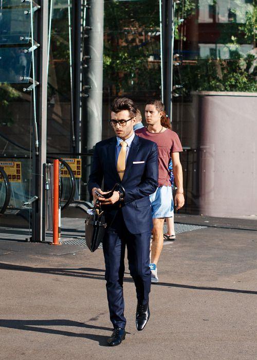 Damn, this guy looks sharp.  #menswear #fashion #streetstyle