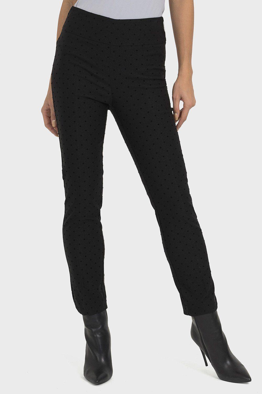 Joseph Ribkoff Solid Black Midrise Slip-On Flared Capri Pants 192105 NEW