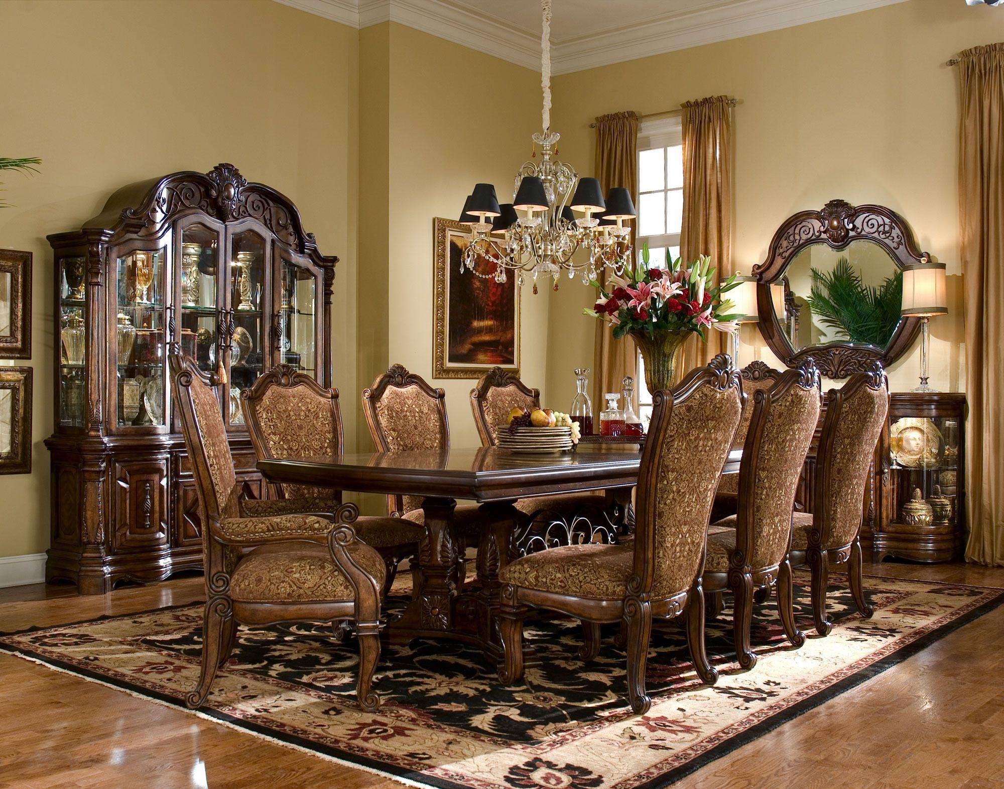 Windsor Court Rectangular Trestle Table Dining Room Set Michael
