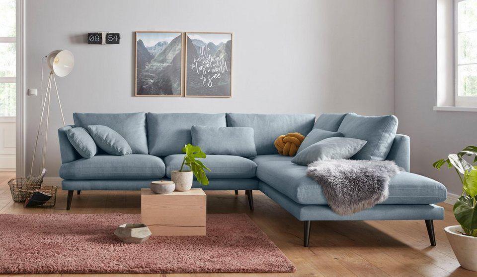 Andas Ecksofa Gondola Scandinavisches Design Und Edle Ausstrahlung Mit Holzbeinen Ecksofa Dunkles Sofa Und Sofa