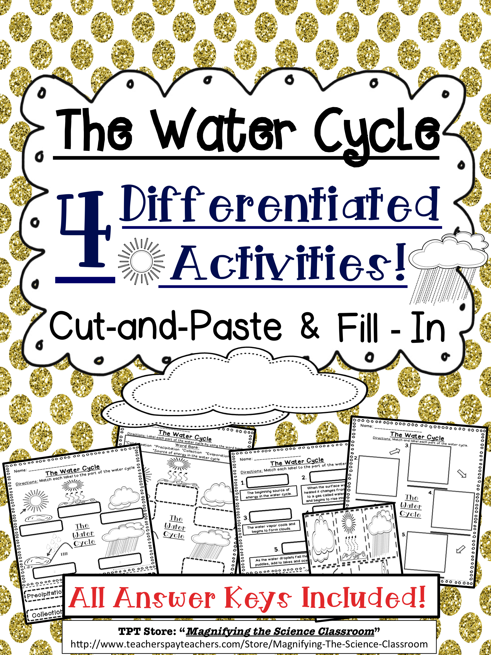 Water Cycle Activities Cut And Paste And Fill In